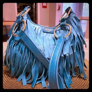 Yves Saint Laurent Boheme Shoulder Bag - Aqua Blue